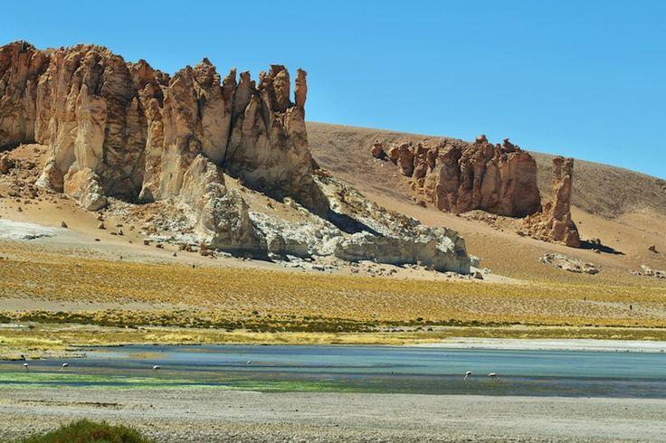 Catedrais de Pedra, Salar de Tara, Atacama, Chile.