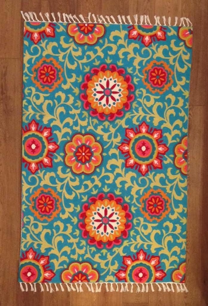 Fl Area Rugs Kids Turquoise Rug 5x7 For