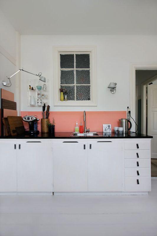 un toque de color en la cocina