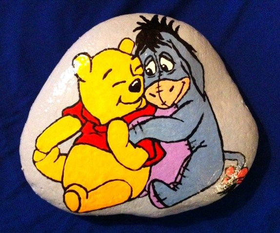 Winnie the Pooh and Eyore on Stone by ~AmandaFerguson070707 on deviantART