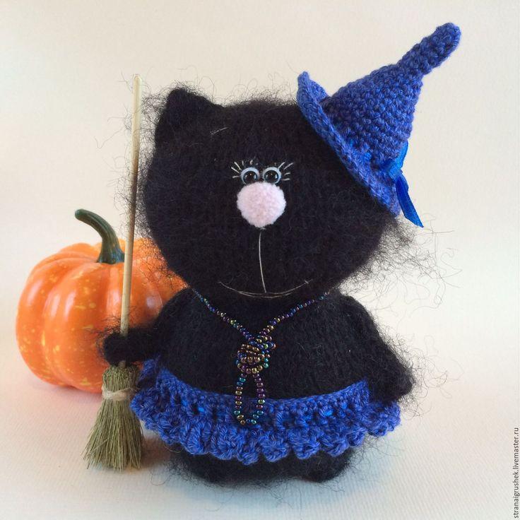 Купить Киска Ведьмочка. - чёрный, киска, коты и кошки, коты ручной работы, кошка