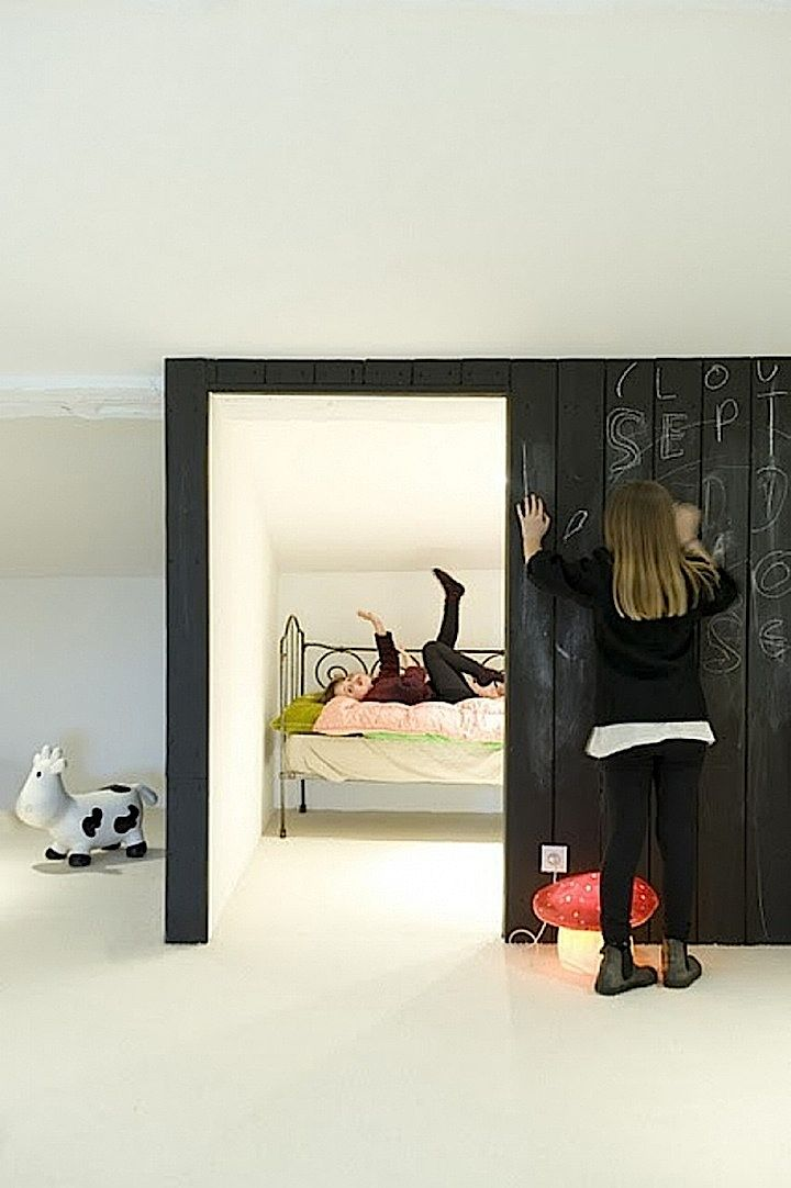 indoor playhouse bed via @Si @FrenchByDesign