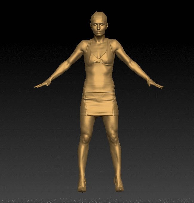 Debbie Clothed Full Body 3D Scan