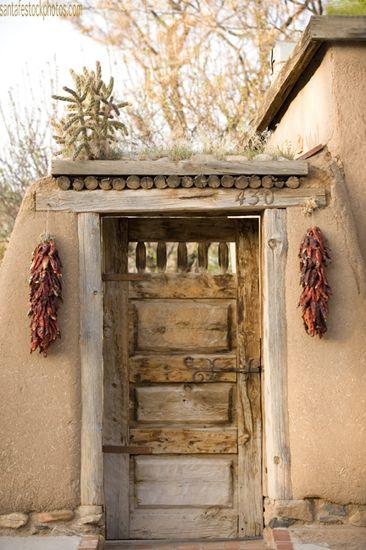 Carved Rustic Santa Fe Door