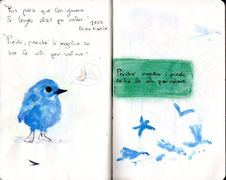"""""""Pus para qué  los quiero se tengo alas pa volar""""   rivisita e poi lavora... per il progetto """"il figlio del vino"""" - Accademia delle belle arti di napoli e filo di partenope -"""