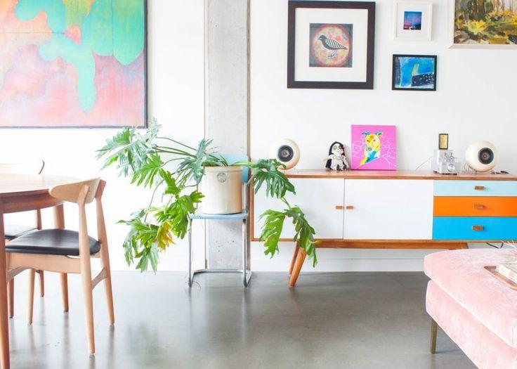 Een vrolijke studio interieur inspiratie studio - Interieur eclectique appartement sobrado studio ...