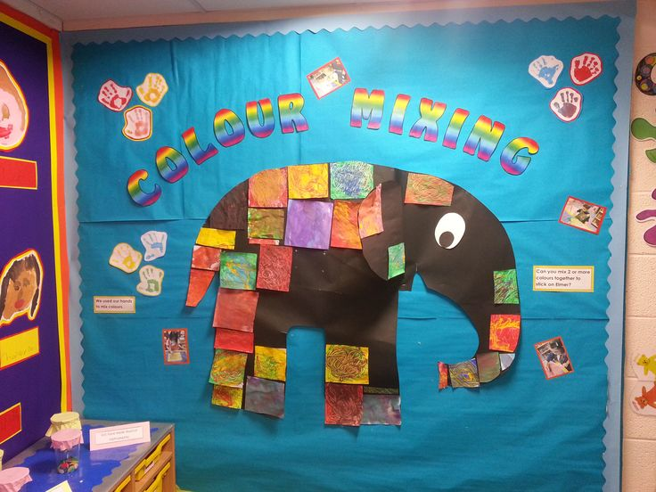 Elmer The Elephant Art Display Was A Fab Way To Get The