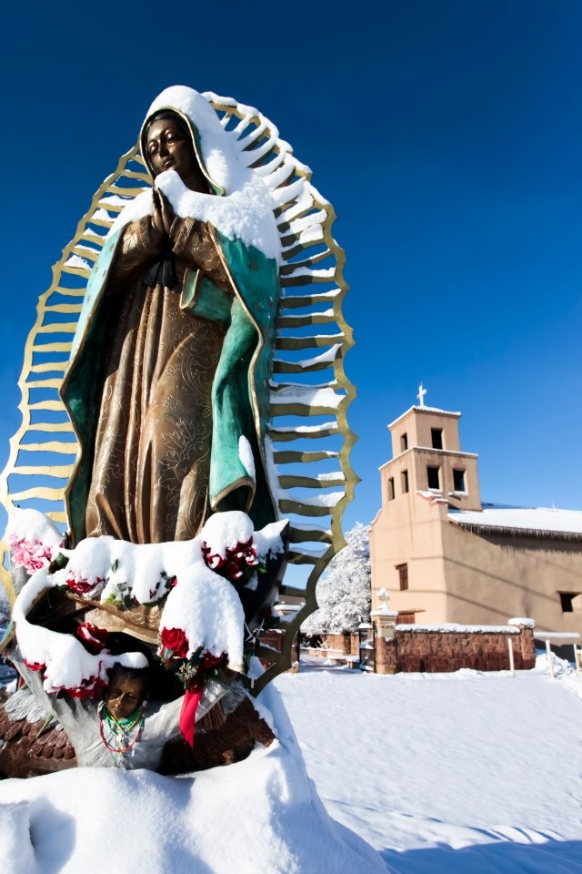 Our Lady of Guadalupe in the snow
