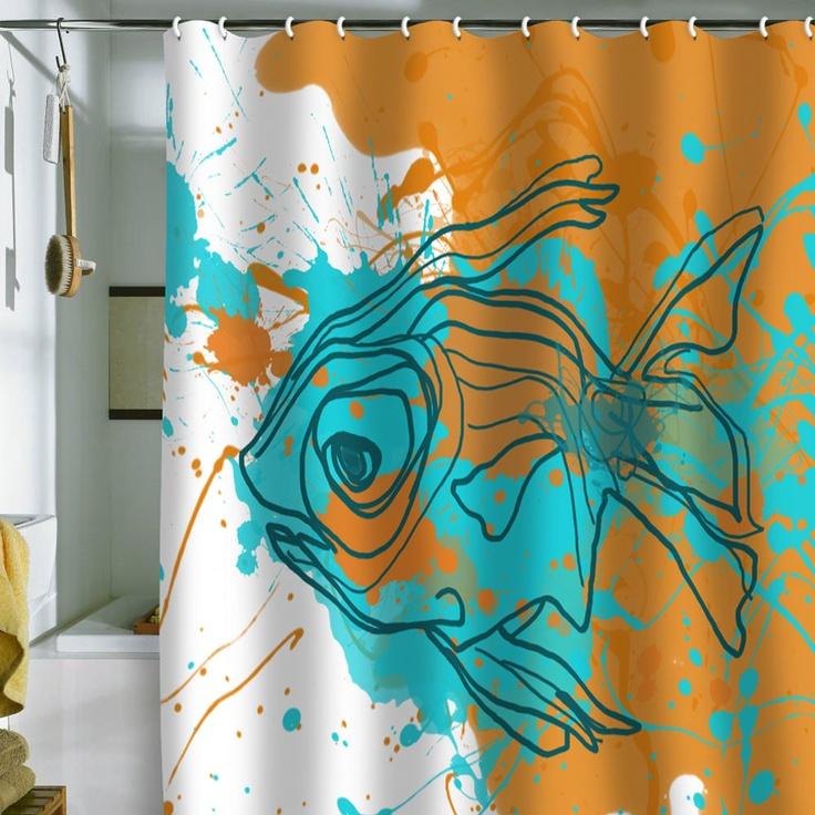 73 best Shower curtains images on Pinterest | Bathroom, Bathroom ...