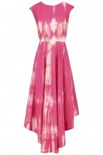 Pink Tie and Dye Asymmetrical Maxi Dress #shadesofpink #Asymmerical #maxidress…
