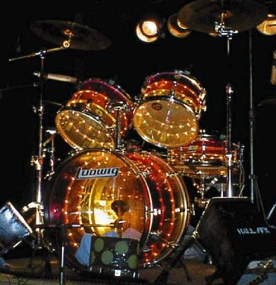 Ludwig Vistalite Tivoli drum kit.  We sold one of these many moons ago.   Crazy cool drums.