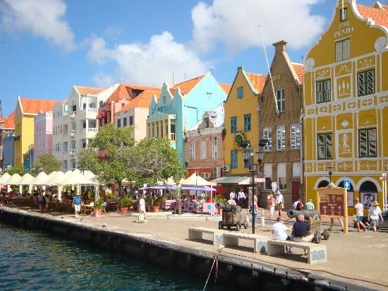colorful places. Willemstad Curacao, Caribbean