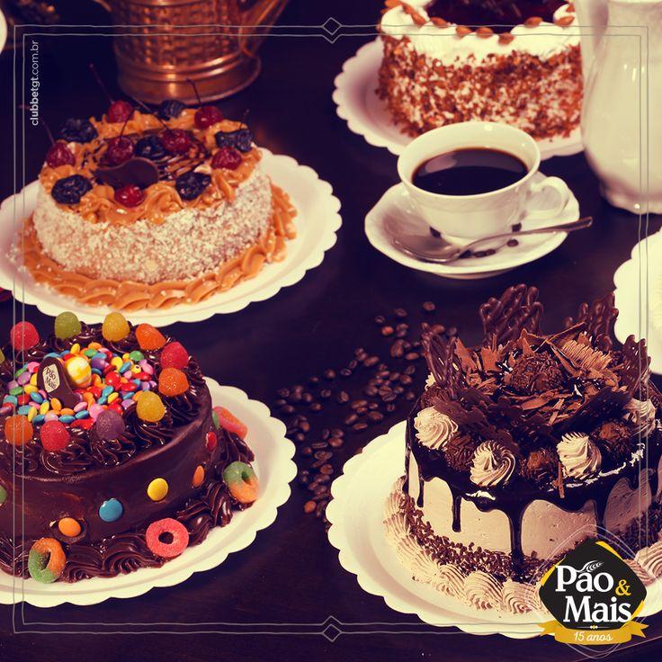 Uni, dune, tê. Qual torta você quer? São tantos sabores deliciosos que fica difícil escolher uma só. #bolos #cake #tortas