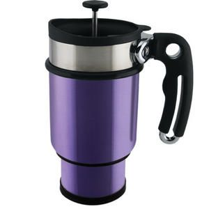 A French Press coffee mug - that you can take with you in the car AND put an extra cup's worth of coffee in a hidden compartment for later!