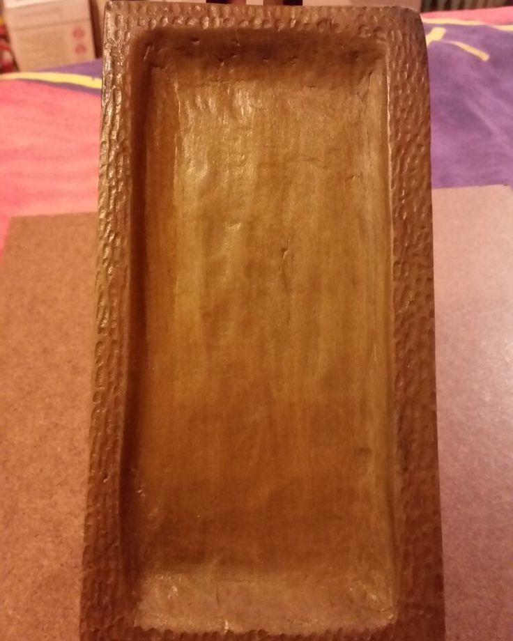1er. Trabajo en tallado en madera ... bandeja -laurel -