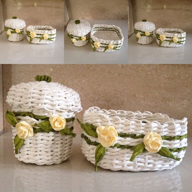 Baskets#wickerbasket#paperstring#wiklina#koszyk