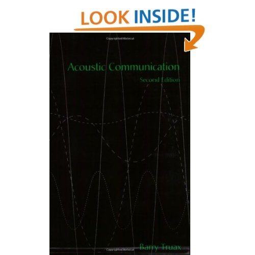 Amazon.com: Acoustic Communication (9781567505375): Barry Truax: Books