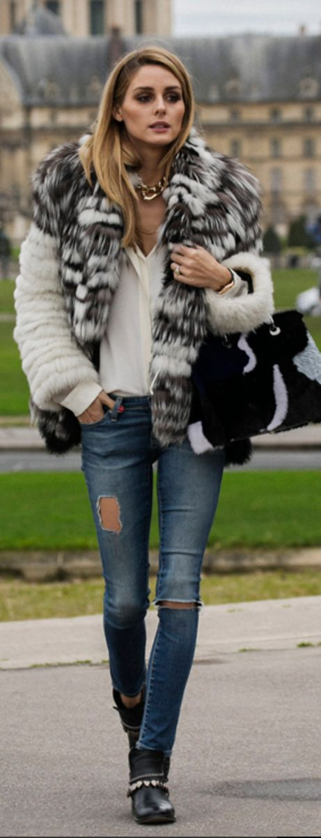 Olivia Palermo Wearing Purse Fendi Jeans Ag Shoes Freda Salvador