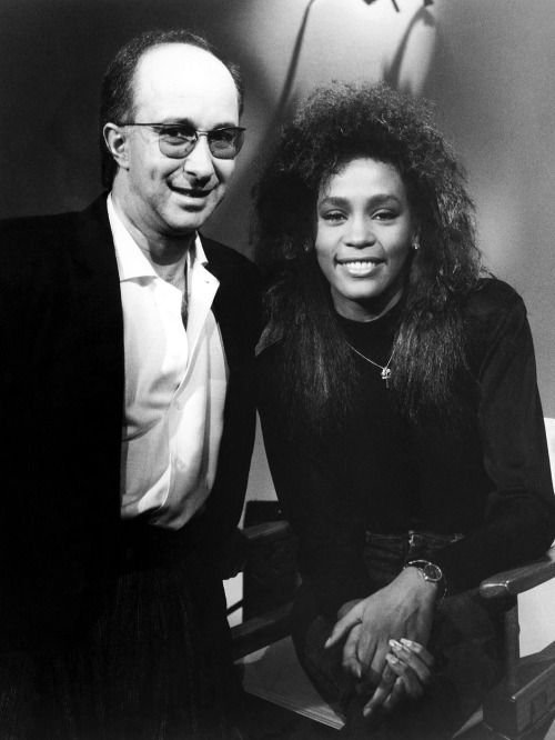 "Paul Shaffer and Whitney Houston host TV show ""Friday Night Videos"" in 1986"