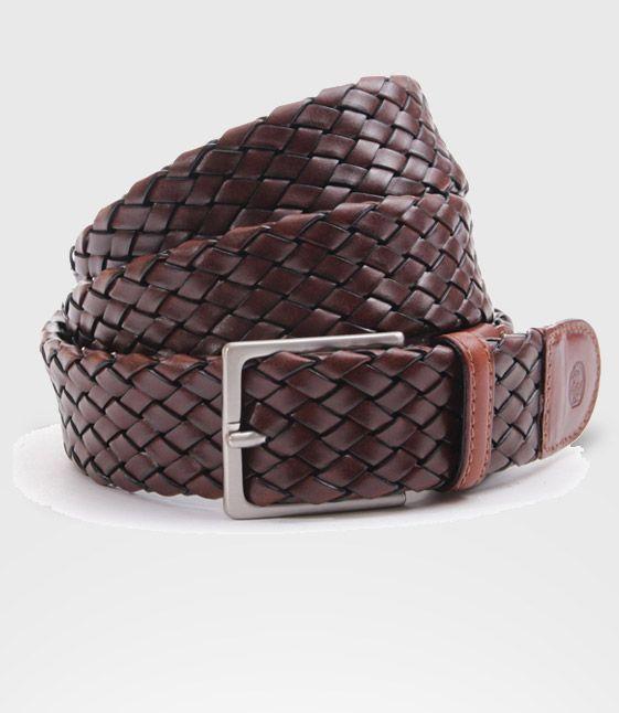 Cintura Intrecciata in pelle di toro - Belt Braided Leather Bull