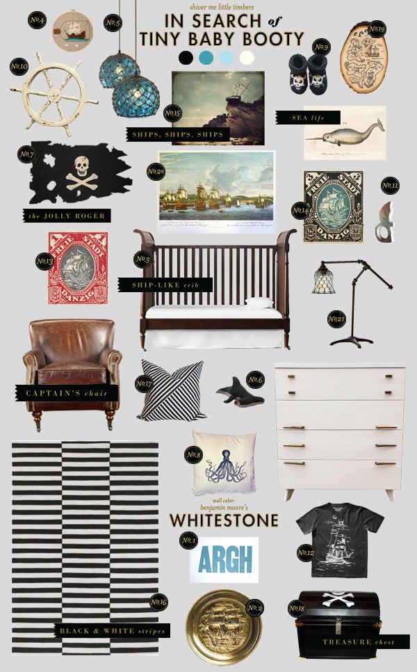 pirate nursery style board inspiration
