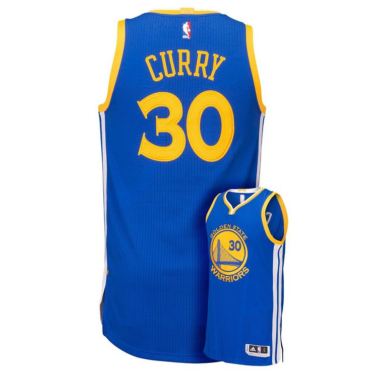 Men's Adidas Golden State Warriors Stephen Curry Replica Jersey, Size: XL, Blue