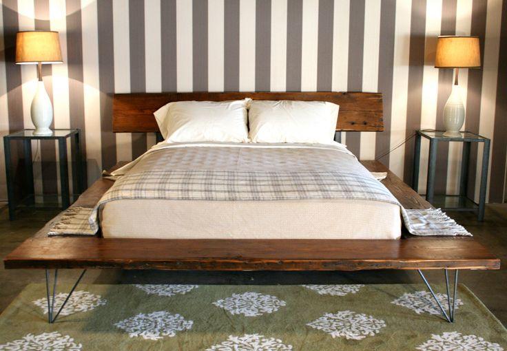 Reclaimed Wood Platform Bed Frame - handmade sustainably in Los Angeles. $2,295.00, via Etsy.