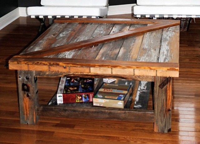 Barn Door Coffee Table Adventure Indoors Custom Log Furniture