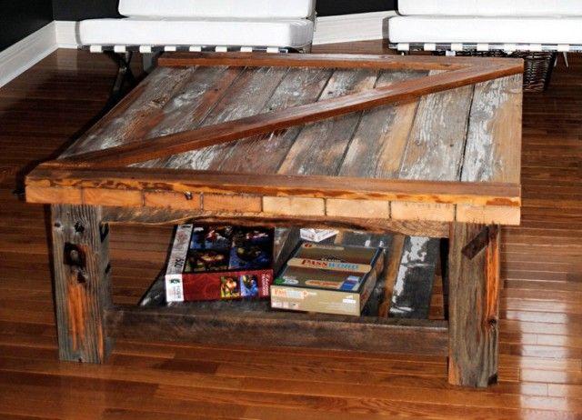 Barn Door Coffee Table Ben 39 S Future Man Cave Pinterest