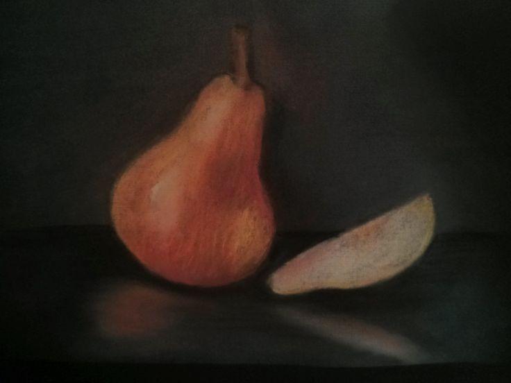 Pear in pastel
