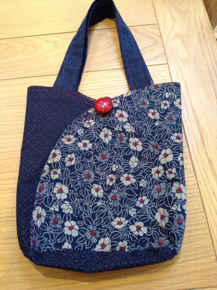 Japanese bag made on a 1 day workshop in Sheffield with Jeanette Jackson