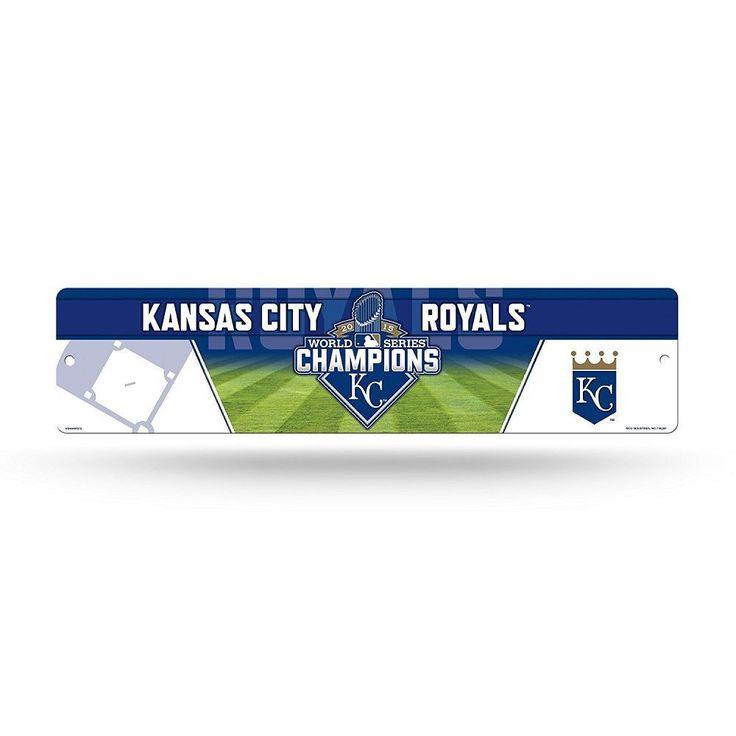 MLB Kansas City Royals 2015 World Series Champion High-Res Plastic Street Sign,