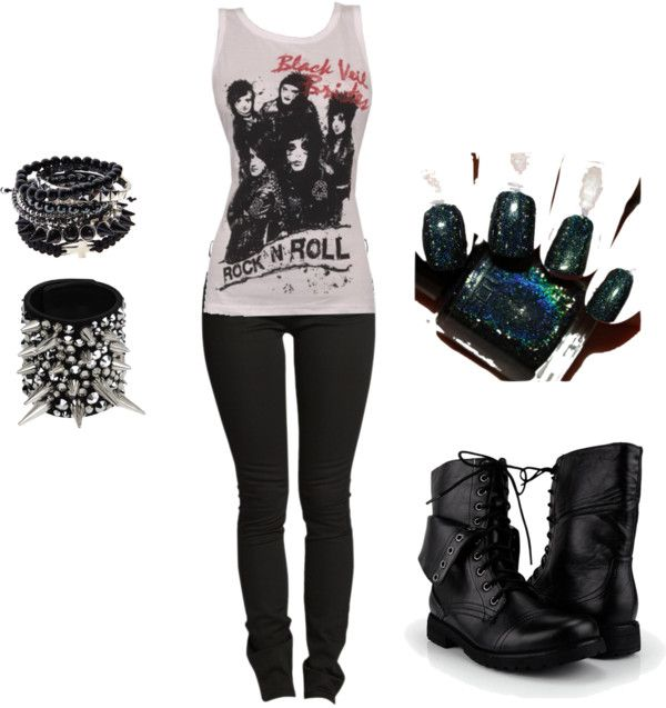 """""""Emo Outfit 1"""" By Callak-jabb Liked On Polyvore"""