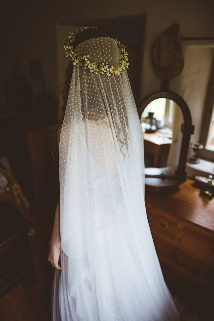 Handmade polka dot veil. Images by Photography 34