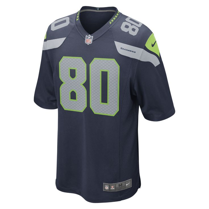 denmark nike nfl seattle seahawks steve largent mens football home game  jersey size small nike seattle c43fd3741
