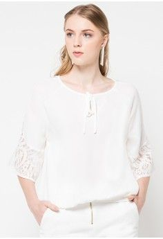Freesia Lace Top from B.L.F in white_1