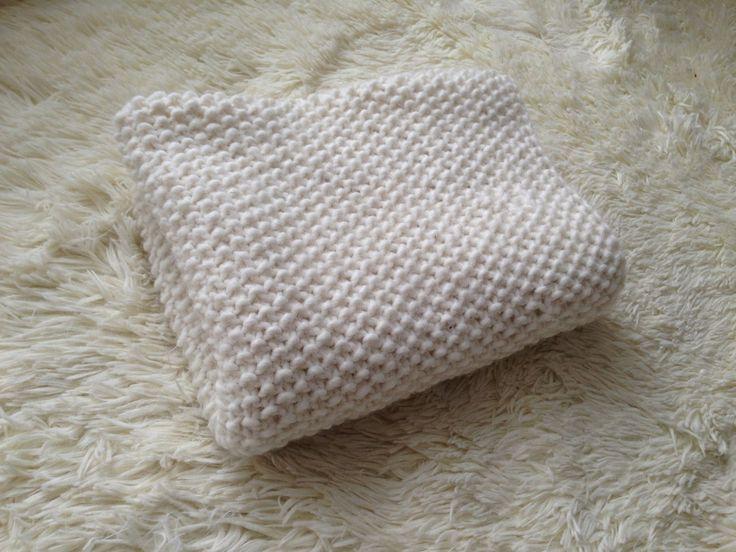"Плед спицами узором ""Жемчуг"" (Knitting a baby blanket) #myknitstory"