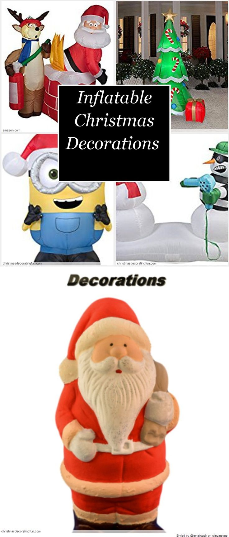 Inflatable christmas decorations outdoor cheap - Find This Pin And More On Outside Christmas Decorating Fun