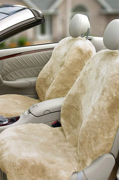 Ride in cool comfort and style! Say goodbye to hot, sticky car seats in summer months and icy cold seats during winter. Sheepskin Seat Covers look great and fit like a dream, plus they'll keep you cushioned and comfortable all year long. They also enhance the durability of your car seats -- which is invaluable, come trade-in time.