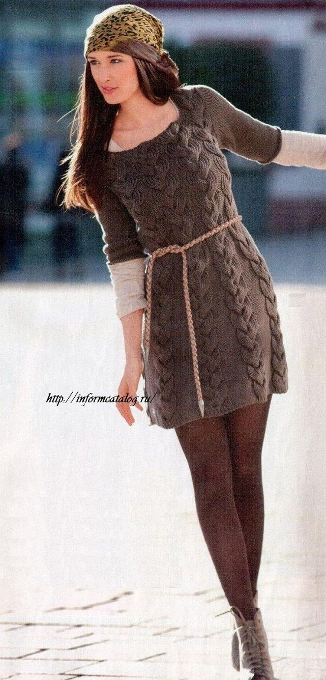 мини платье спицами