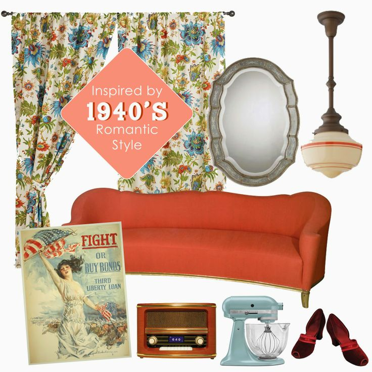 75 best images about 1940s americana red white aqua on for 1940s decoration