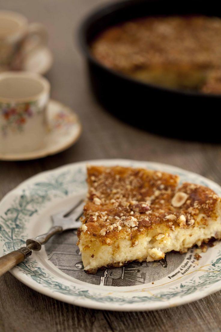 Gâteau moelleux aux pommes et aux noisettes