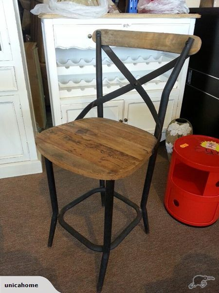 Rustic Industrial Bar Chair   Trade Me