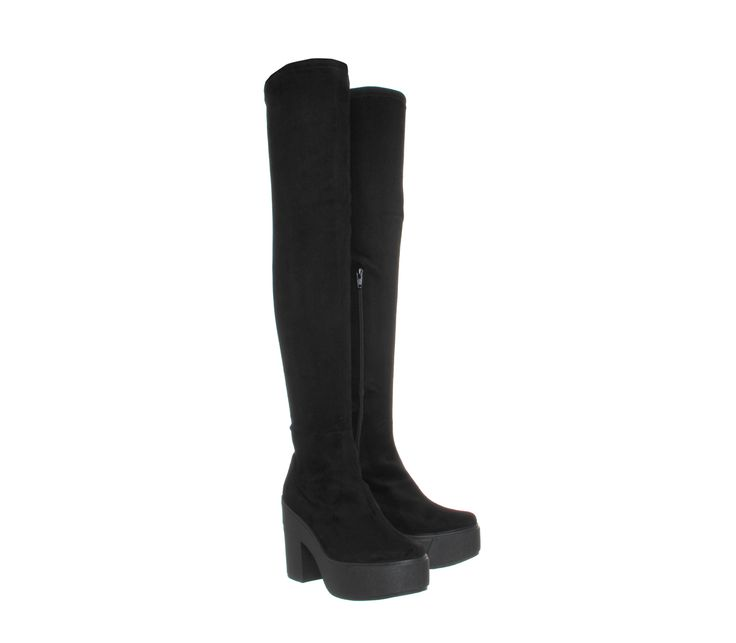 Buy Black Office Naughty Stretch Thigh High Boots from OFFICE.co.uk.