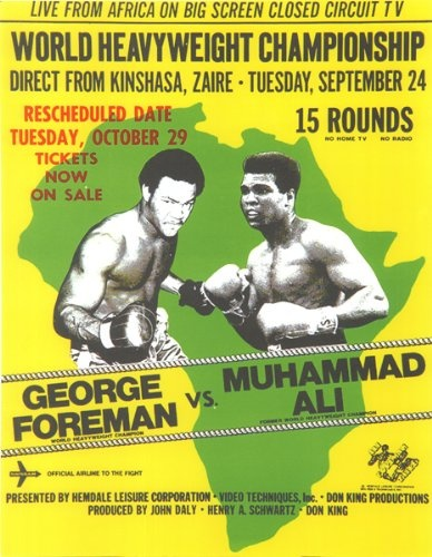 Boxing George Foreman vs Muhammad ALI Poster Zaire Africa 1974