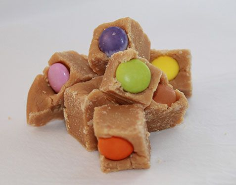 Smartie Pants Fudge  Our original Oh Sugarplum! Fudge is packed with knowledge hoarding, sugar rushing, energy boosting chocolate smarties! May, or may not, increase your IQ.