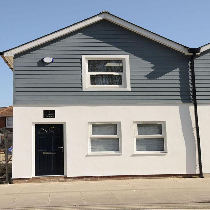 House pvc cladding storm grey 5m kitchen big extension - Exterior plastic cladding for houses ...
