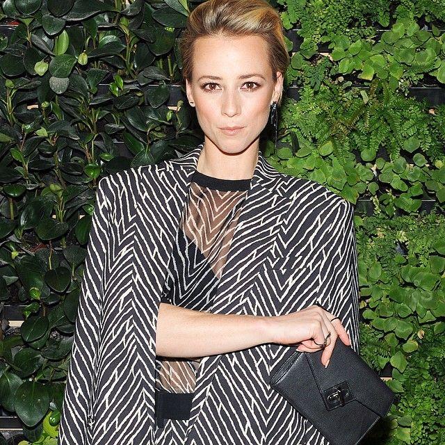 @karinevanasse sporting our ela mini milck clutch last night at the #paulandrew @cfda / @voguemagazine cocktail #elahandbags