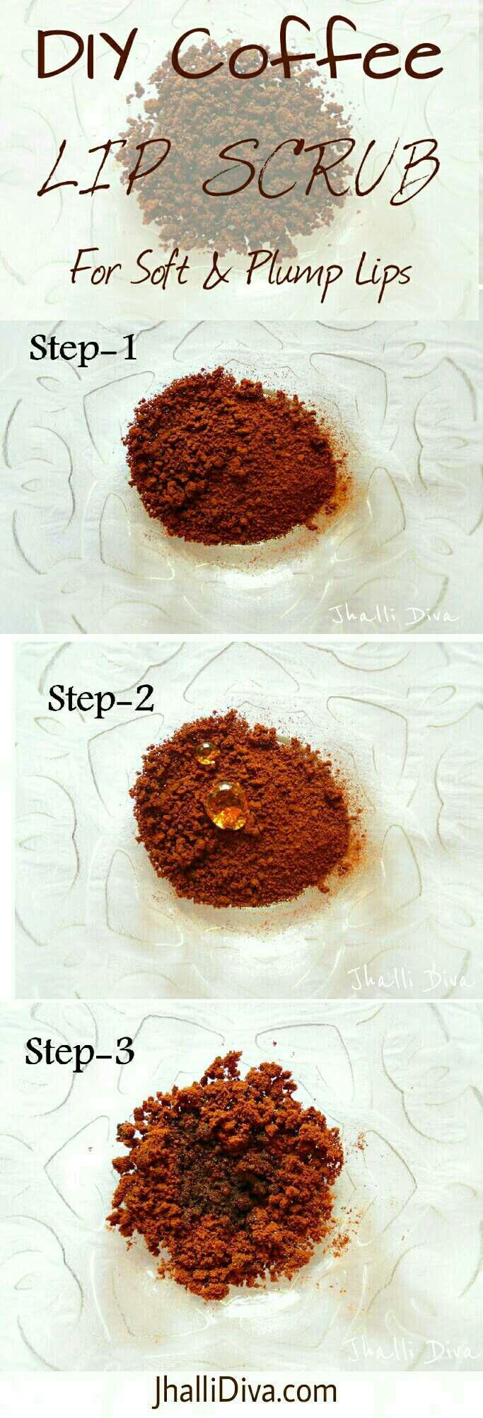 Diy Coffee Lip Scrub For Soft & Plump Lips  3 Ingredients Only