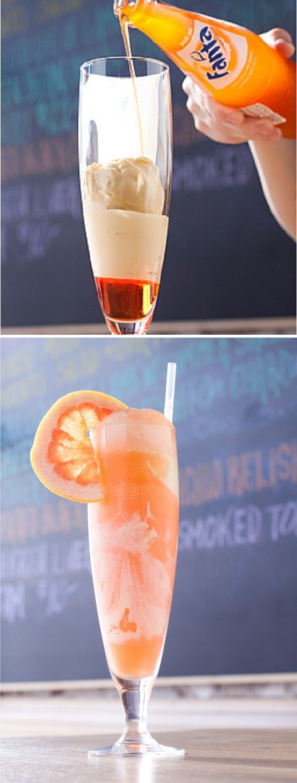 Orange Soda Float Cupcaketini